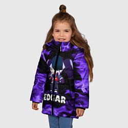 Куртка зимняя для девочки BRAWL STARS EDGAR цвета 3D-черный — фото 2