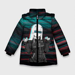 Куртка зимняя для девочки Zero Two Senpai цвета 3D-черный — фото 1