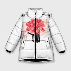Куртка зимняя для девочки Парочка цвета 3D-черный — фото 1