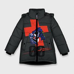 Куртка зимняя для девочки Евангилион цвета 3D-черный — фото 1