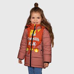 Куртка зимняя для девочки Slava Marlow ТыГоришьКак огонь цвета 3D-черный — фото 2