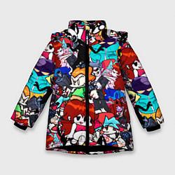 Куртка зимняя для девочки FRIDAY NIGHT FUNKIN цвета 3D-черный — фото 1
