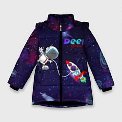 Куртка зимняя для девочки Deep Space Cartoon цвета 3D-черный — фото 1