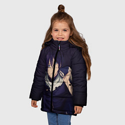 Куртка зимняя для девочки Ято Бездомный бог цвета 3D-черный — фото 2