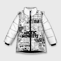 Куртка зимняя для девочки Arctic Monkeys цвета 3D-черный — фото 1