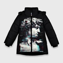 Куртка зимняя для девочки David Glitch цвета 3D-черный — фото 1