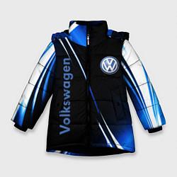 Куртка зимняя для девочки VOLKSWAGEN цвета 3D-черный — фото 1