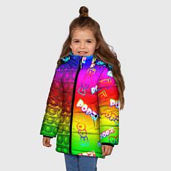 Куртка зимняя для девочки POP it! цвета 3D-черный — фото 2