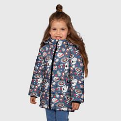 Куртка зимняя для девочки Казино цвета 3D-черный — фото 2
