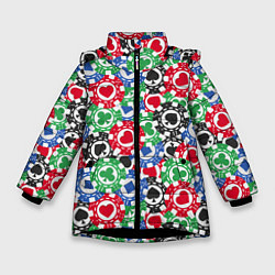 Куртка зимняя для девочки Покер цвета 3D-черный — фото 1