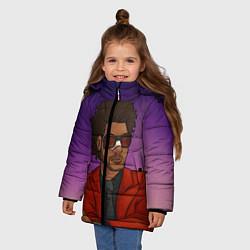 Куртка зимняя для девочки Стильный Уикенд цвета 3D-черный — фото 2
