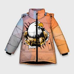 Куртка зимняя для девочки Орел 3D цвета 3D-черный — фото 1