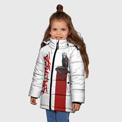 Куртка зимняя для девочки EVANGELION ПИЛОТ EVA цвета 3D-черный — фото 2