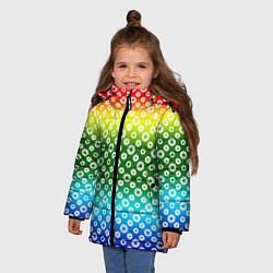 Куртка зимняя для девочки Для фотографов RGB Диафрагма цвета 3D-черный — фото 2