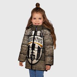 Куртка зимняя для девочки Juventus цвета 3D-черный — фото 2