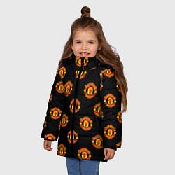 Куртка зимняя для девочки Manchester United Pattern цвета 3D-черный — фото 2