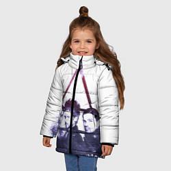 Детская зимняя куртка для девочки с принтом 30 seconds to mars, цвет: 3D-черный, артикул: 10063909106065 — фото 2