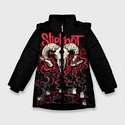 Куртка зимняя для девочки Slipknot цвета 3D-черный — фото 1