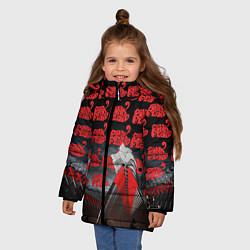Куртка зимняя для девочки Pink Floyd Pattern цвета 3D-черный — фото 2
