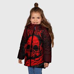 Куртка зимняя для девочки BFMV: Red Skull цвета 3D-черный — фото 2