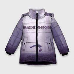 Детская зимняя куртка для девочки с принтом Imagine Dragons: Silence, цвет: 3D-черный, артикул: 10064383706065 — фото 1