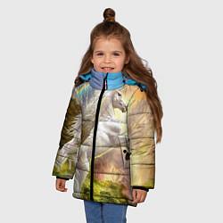 Детская зимняя куртка для девочки с принтом Радужный единорог, цвет: 3D-черный, артикул: 10065040406065 — фото 2