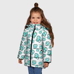 Куртка зимняя для девочки Бриллианты цвета 3D-черный — фото 2