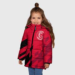Детская зимняя куртка для девочки с принтом Sevilla FC, цвет: 3D-черный, артикул: 10065164606065 — фото 2
