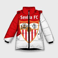 Куртка зимняя для девочки Sevilla FC цвета 3D-черный — фото 1