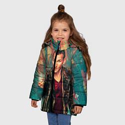 Детская зимняя куртка для девочки с принтом Доктор кто, цвет: 3D-черный, артикул: 10065374006065 — фото 2