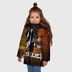 Куртка зимняя для девочки Metallica: James Hetfield - фото 2