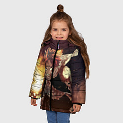Куртка зимняя для девочки Fairy tail цвета 3D-черный — фото 2