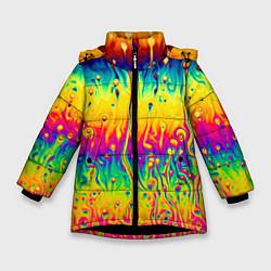Куртка зимняя для девочки Tie dye - фото 1
