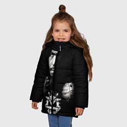 Куртка зимняя для девочки Менни Пакьяо цвета 3D-черный — фото 2