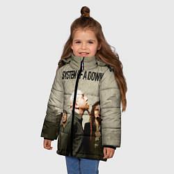 Куртка зимняя для девочки System of a Down цвета 3D-черный — фото 2