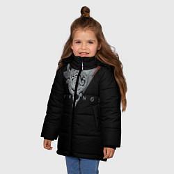 Куртка зимняя для девочки Vikings Emblem цвета 3D-черный — фото 2
