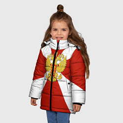 Куртка зимняя для девочки Флаг ВВ цвета 3D-черный — фото 2