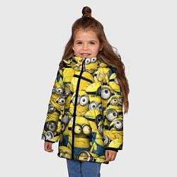 Куртка зимняя для девочки Minions цвета 3D-черный — фото 2