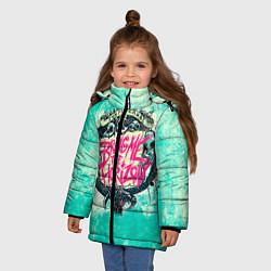 Детская зимняя куртка для девочки с принтом BMTH: Sempiternal, цвет: 3D-черный, артикул: 10073643506065 — фото 2