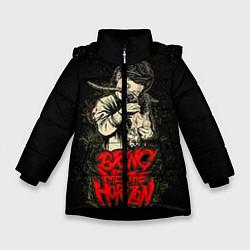 Детская зимняя куртка для девочки с принтом Bring Me The Horizon, цвет: 3D-черный, артикул: 10073644106065 — фото 1