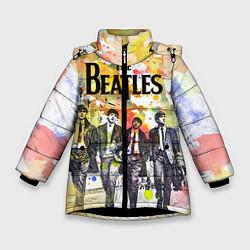 Куртка зимняя для девочки The Beatles: Colour Spray цвета 3D-черный — фото 1