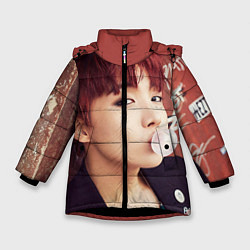 Куртка зимняя для девочки J-Hope цвета 3D-черный — фото 1