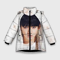 Куртка зимняя для девочки Jeon Jung Kook цвета 3D-черный — фото 1