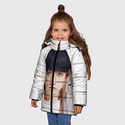 Куртка зимняя для девочки Jeon Jung Kook цвета 3D-черный — фото 2
