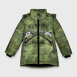 Куртка зимняя для девочки Hunting & Fishing цвета 3D-черный — фото 1