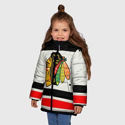 Куртка зимняя для девочки Chicago Blackhawks цвета 3D-черный — фото 2