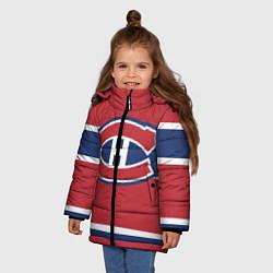 Детская зимняя куртка для девочки с принтом Montreal Canadiens, цвет: 3D-черный, артикул: 10079438006065 — фото 2