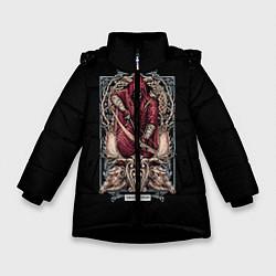 Куртка зимняя для девочки Стрелец цвета 3D-черный — фото 1
