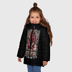 Куртка зимняя для девочки Стрелец цвета 3D-черный — фото 2