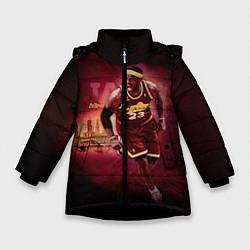 Куртка зимняя для девочки Спорт цвета 3D-черный — фото 1